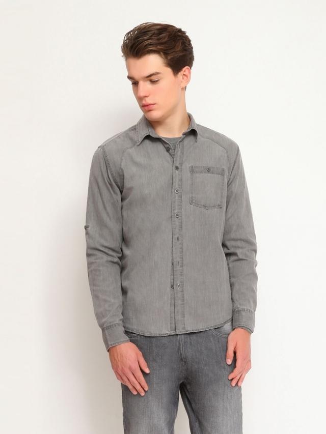 Top Secret Košile pánská dlouhý rukáv - L
