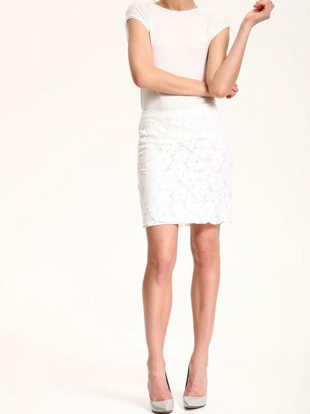 Top Secret Sukně dámská bílá s krajky