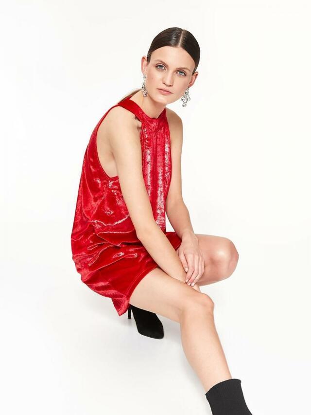 Top Secret Šaty dámské červené bez rukávu - 40