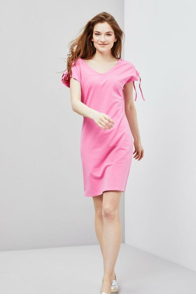Moodo šaty dámské bavlněné s krátkým rukávem - M 61a4c9b3a7