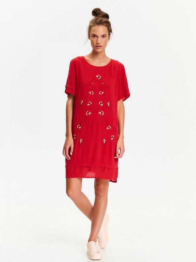 Top Secret šaty dámské červené s krátkým rukávem - 36