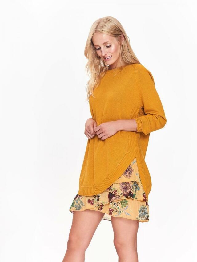 Top Secret Svetr dámský žlutý s dlouhým rukávem - 40 6ca509ac09