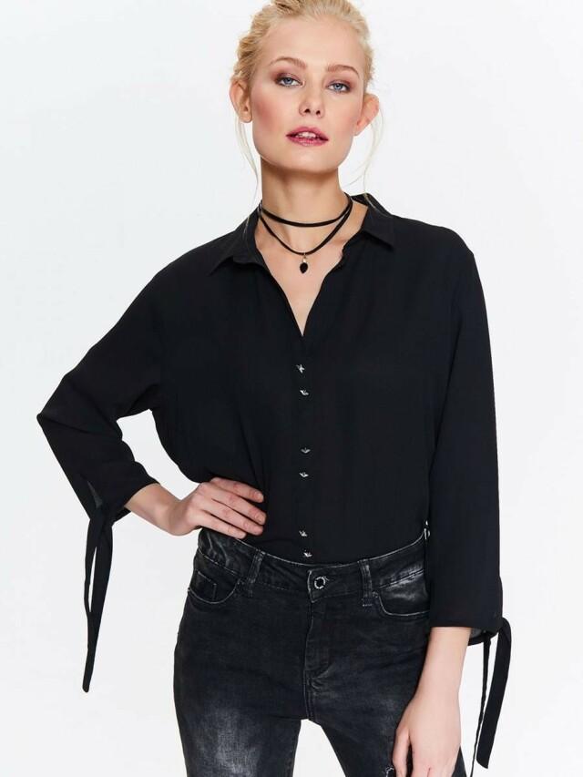 Top Secret Košile dámská černá s dlouhým rukávem