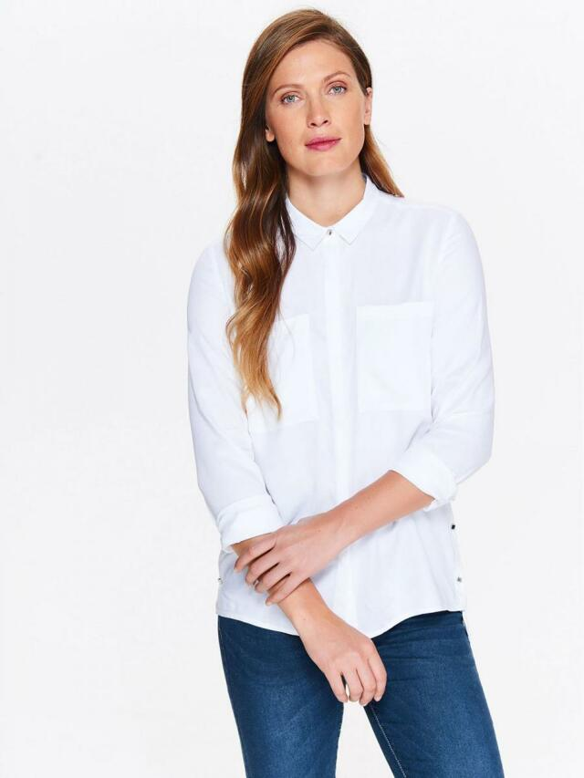 fe077fa19fc Top Secret Košile dámská bílá s dlouhým rukávem - 42