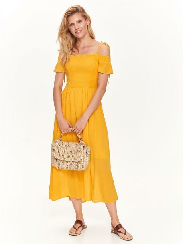 Top Secret šaty dámské MAXI žluté se šněrováním - 40