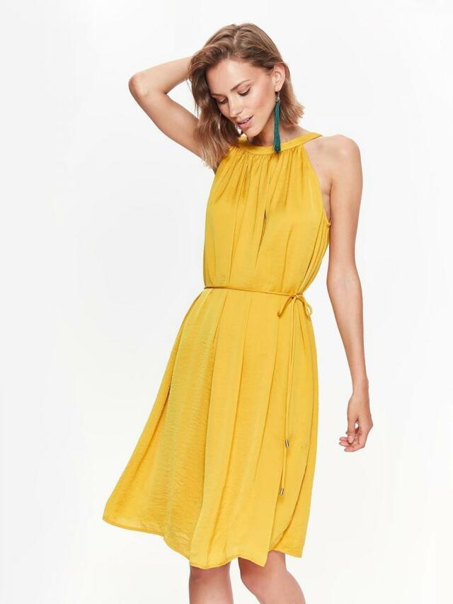 Top Secret šaty dámské žluté MIDI