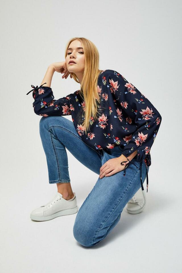 Moodo Košile dámská se zavazovací tkanicí - XS