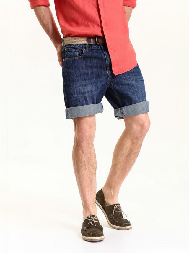 Top Secret Kraťasy pánské tmavěmodré jeans