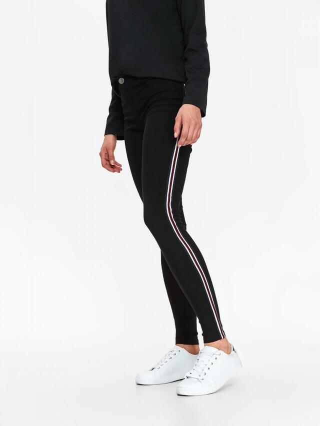 Top Secret Kalhoty dámské černé s pruhem na boku - M