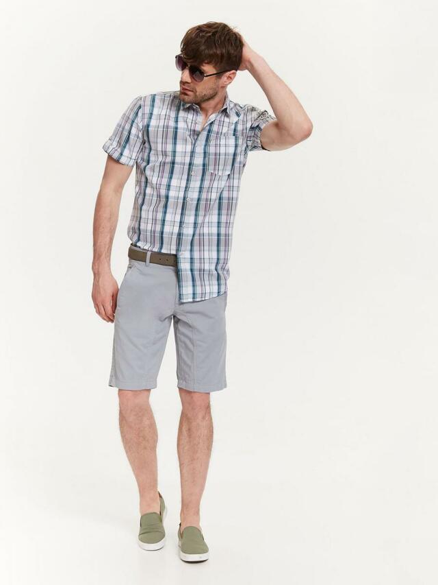 Top Secret Košile pánská bílá s proužkem a krátkým rukávem