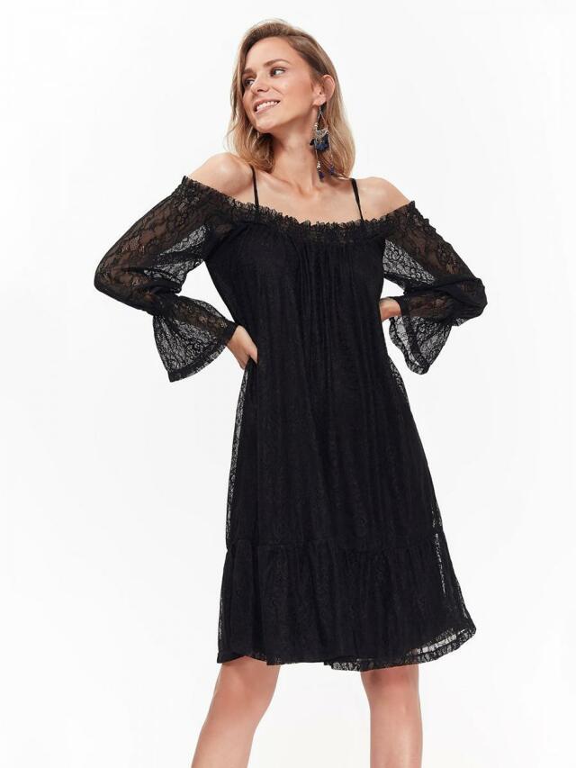 Top Secret šaty dámské z černé krajky - 40