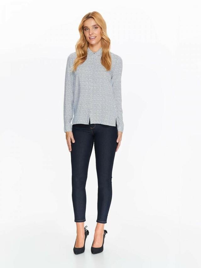 Top Secret Košile dámská bílá s puntíky a dlouhým rukávem