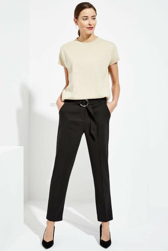 Moodo Kalhoty dámské společenské černé - S