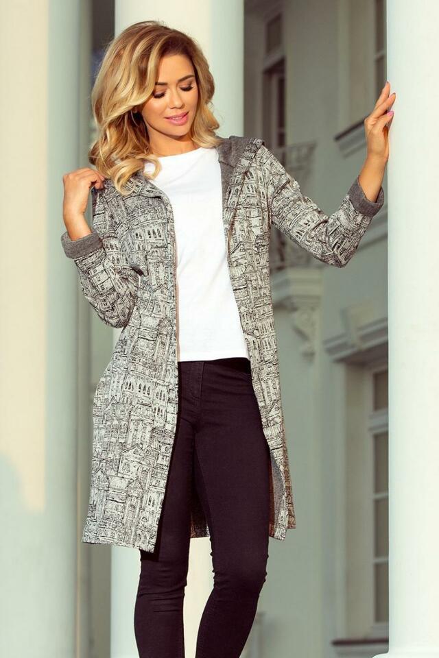 Numoco Bunda dámská MIASTO s kapucí - XL