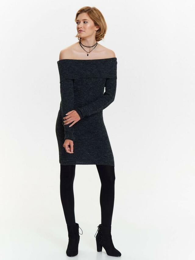 cceea6b1bb86 Top Secret šaty dámské pletené s odhalenými rameny - XS
