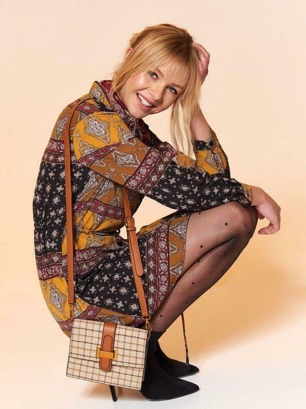 Top Secret Šaty dámské vzorované v košilovém střihu - 36