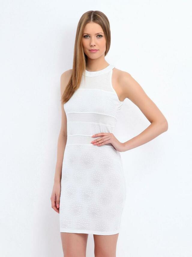 Top Secret šaty dámské bílé