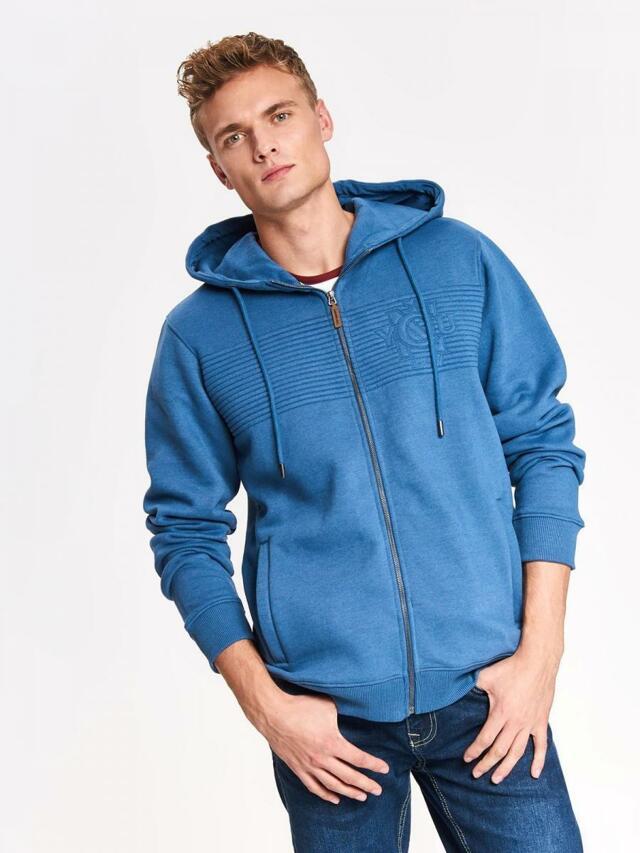 Top Secret Mikina pánská modrá s kapucí