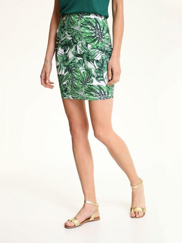 Top Secret Sukně dámská zelená s květinovým vzorem