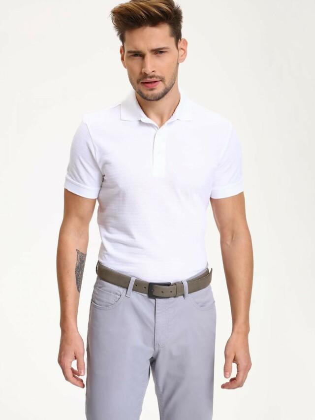 Top Secret Triko pánské bílé s límečkem krátký rukáv poslední kus