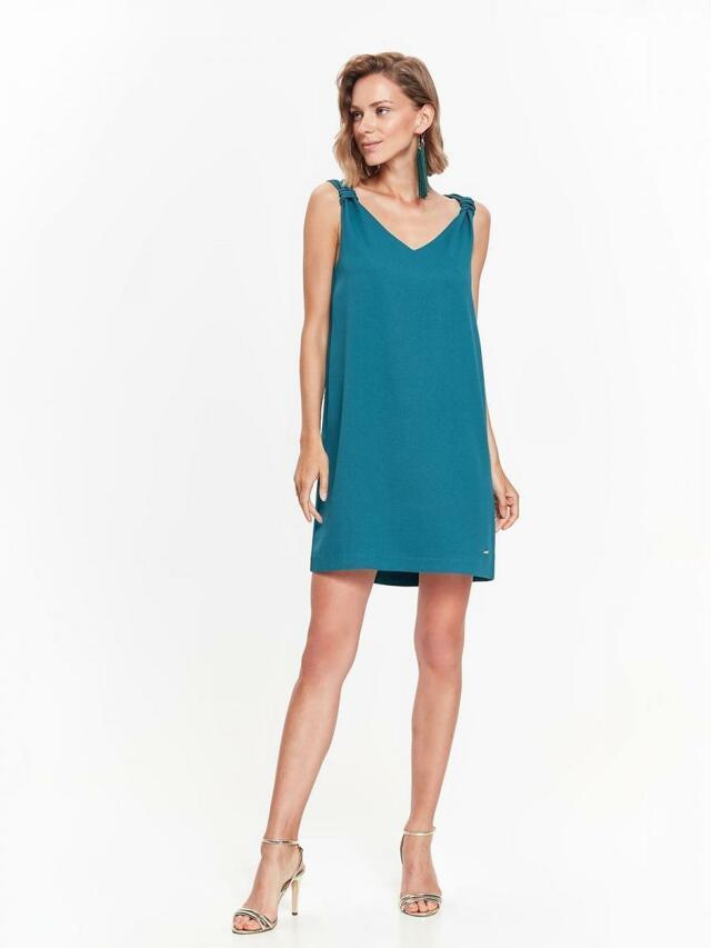 Top Secret šaty dámské tyrkys bez ramínek - 40