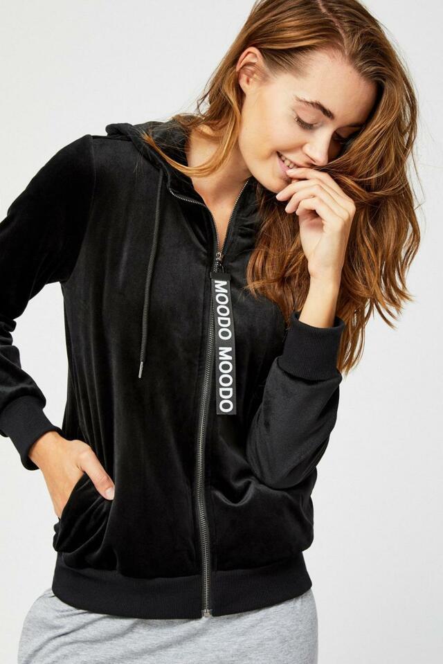 Moodo Mikina dámská s kapucí na zip - S