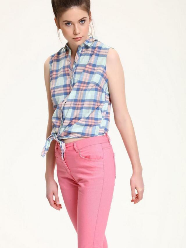 Top Secret Košile dámská kostičkovaná bez rukávu - M