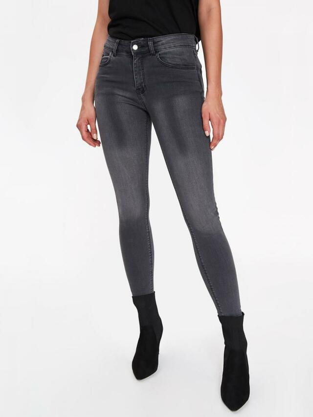 Top Secret Jeansy dámské šedé SKINNY - 40 550991f7c2
