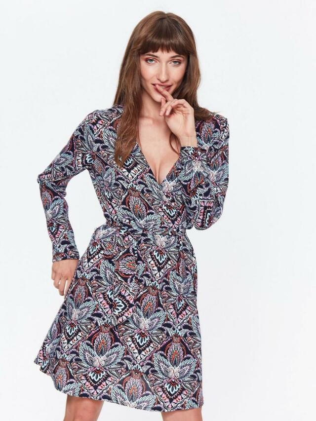 Top Secret šaty dámské s květinovým vzorem a hlubokým výstřihem - 40 f39db10c96