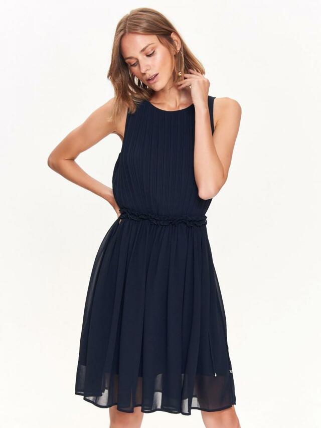 Top Secret šaty dámské tmavě modré bez rukávu se zavazovacím páskem - 38 01f70a2435