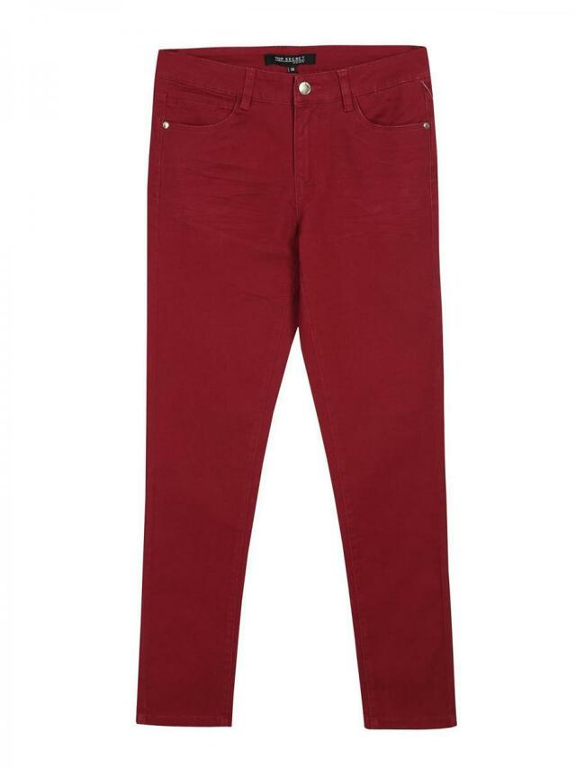 Top Secret Kalhoty dámské tmavě červené - 34
