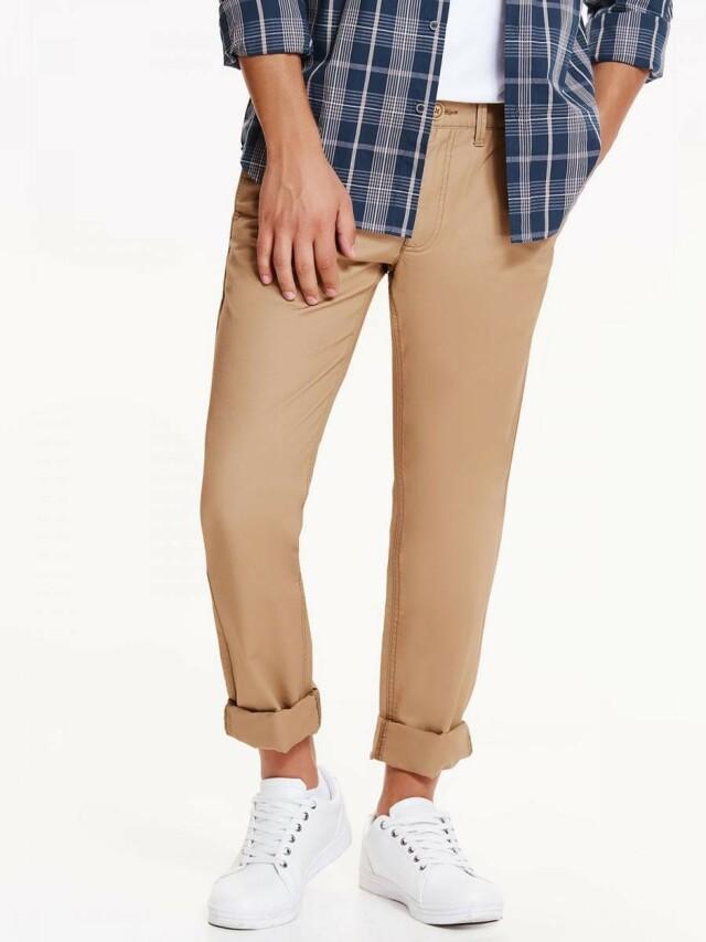 Top Secret Kalhoty pánské bavlněné béžové - 33