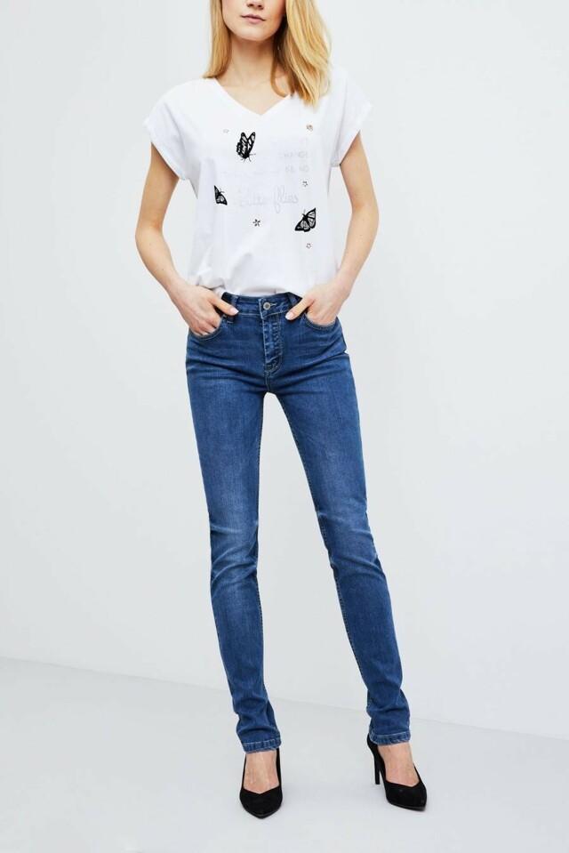 Moodo Jeansy dámské modré - XL