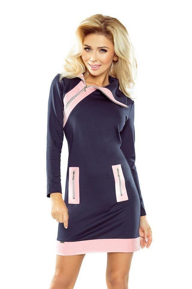 Numoco šaty dámské MIKOL II krátké sportovní se zipem - XL