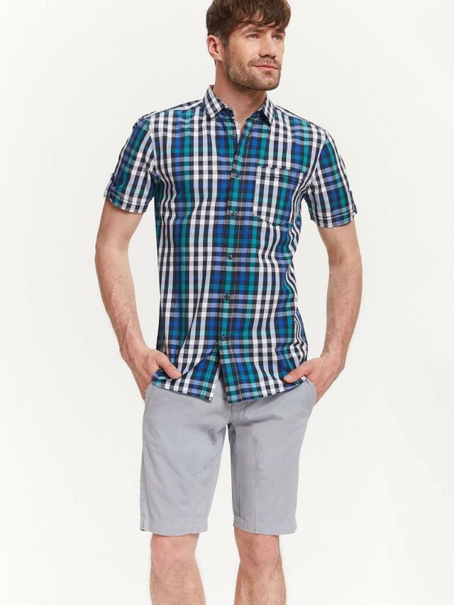 Top Secret Košile pánská kostičkovaná s krátkým rukávem
