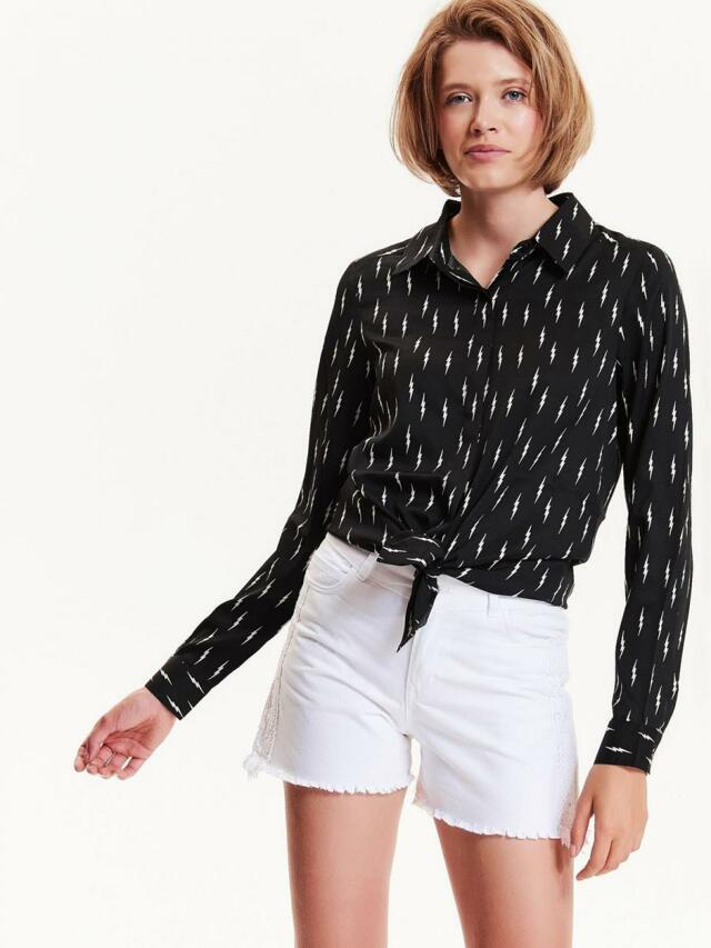 Top Secret Košile dámská bílá vzorovaná - XS