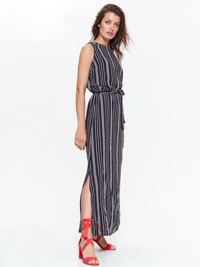 Top Secret šaty dámské pruhované dlouhé s páskem - 42 4ab16f91660