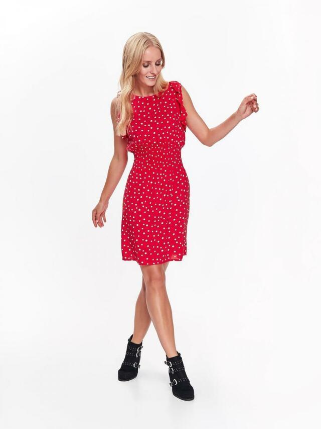 Top Secret šaty dámské červené s puntíky bez rukávu - 36 6796484c72