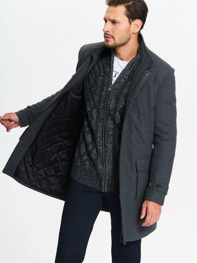 Top Secret Kabát pánský 2v1 šedý