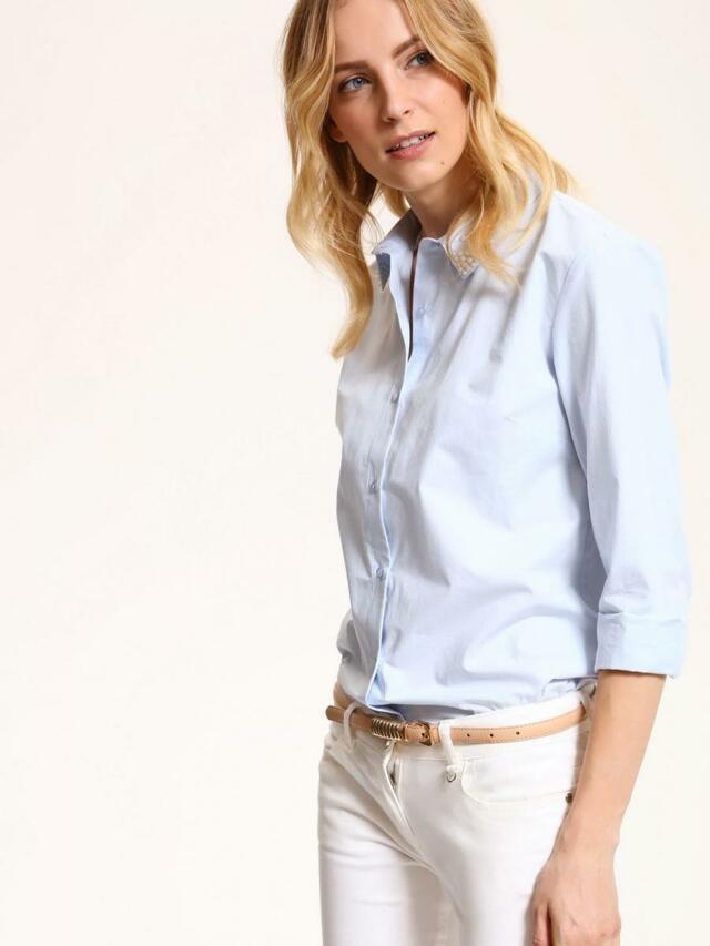 8af83b0650f Hande.cz  top secret košile dámská bledě modrá s korálky na límečku