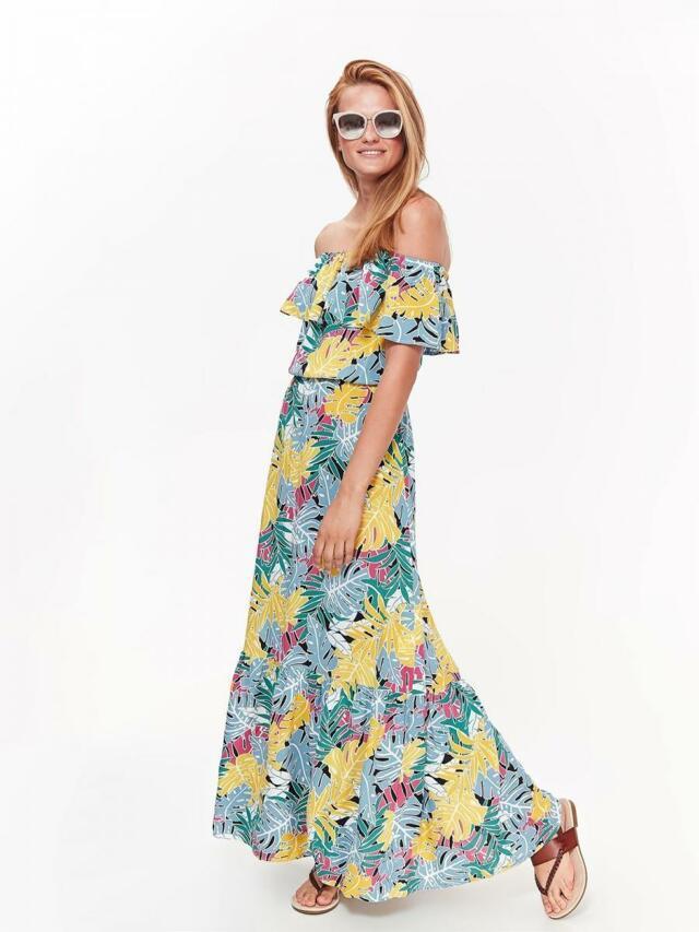 6071a575e684 Top Secret šaty dámské dlouhé s barevným vzorem a odhalenými rameny(596300)  - 2