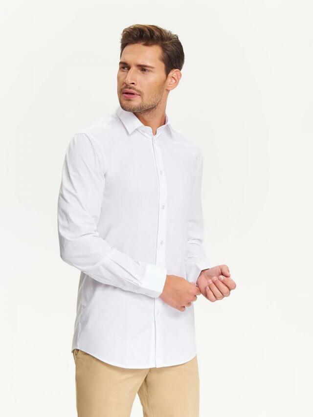 Top Secret Košile pánská bílá s dlouhým rukávem