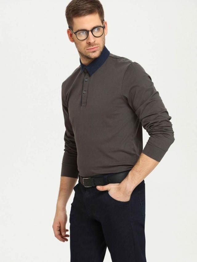 Top Secret Triko pánské s límečkem dlouhý rukáv - XL