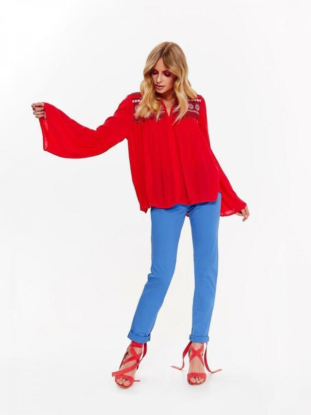 Top Secret Kalhoty dámské modré s páskem