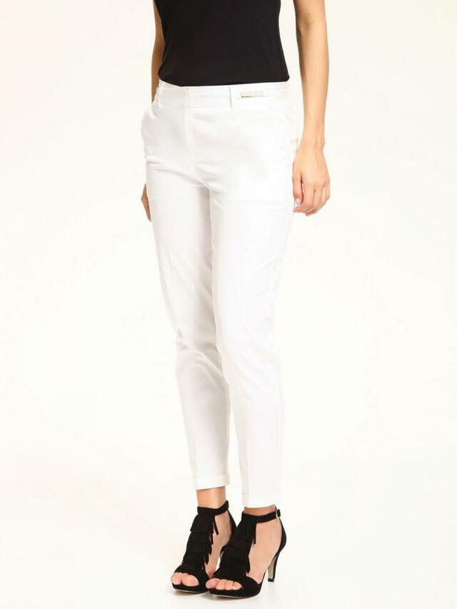 Top Secret Kalhoty dámské bílé společenské - 34