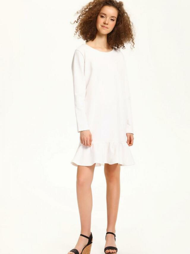 f05469097a74 Top Secret šaty dámské jednobarevné s volánkem a dlouhým rukávem
