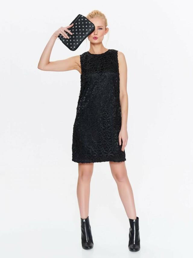 Top Secret šaty dámské černé krajkové bez rukávu - 44