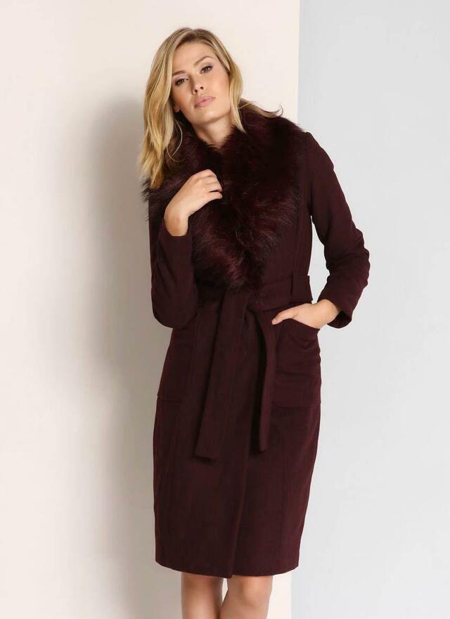 Top Secret Kabát dámský s kožíškem