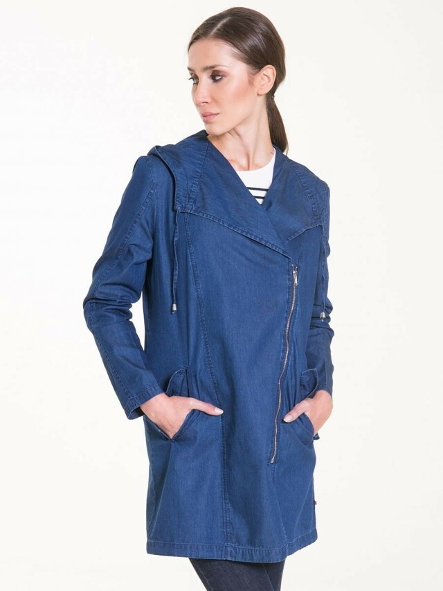 Big Star Bunda dámská CORTINA jeans na zip s kapucí