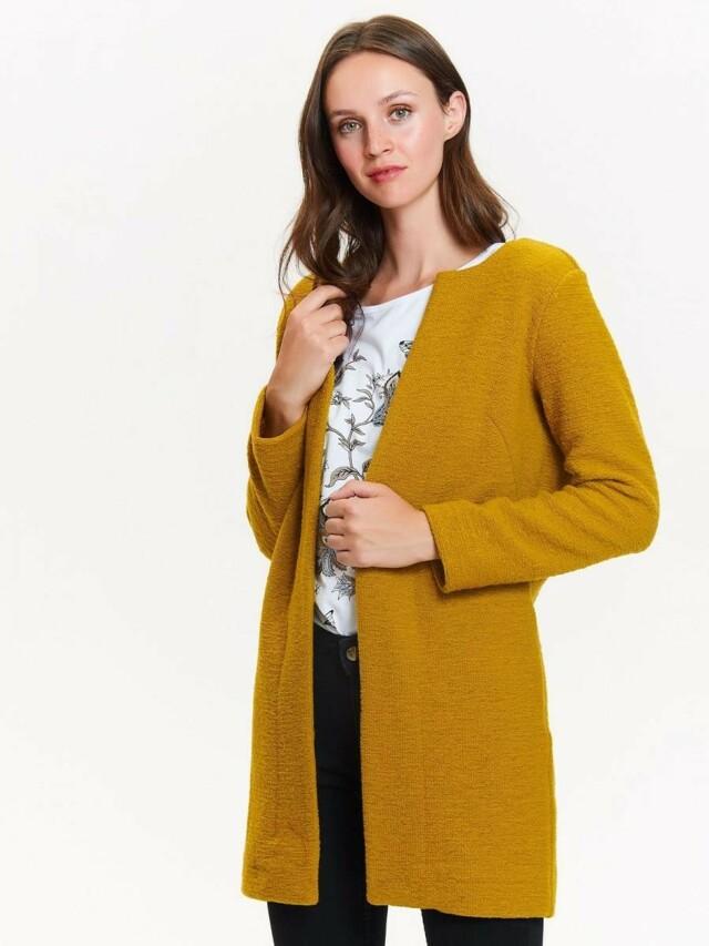 Top Secret Kardigan dámský žlutý bez zapínání poslední kus